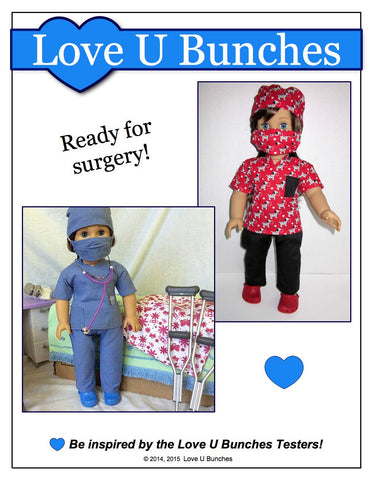 "Scrubs Outfit 18"" Doll Clothes Pattern"