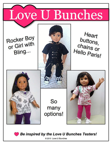 "Bandana Blouse 18"" Doll Clothes Pattern"