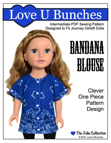 Love U Bunches Journey Girl Bandana Blouse Pattern for Journey Girls Dolls Pixie Faire