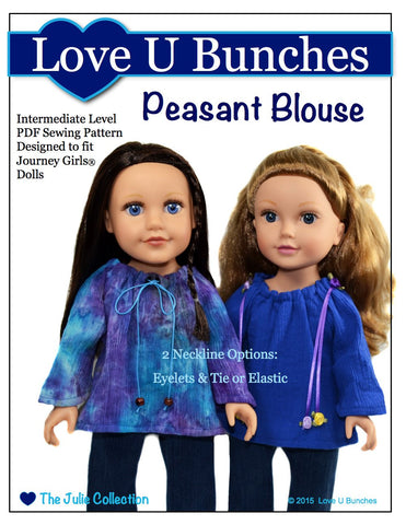 Peasant Blouse for Journey Girls Dolls