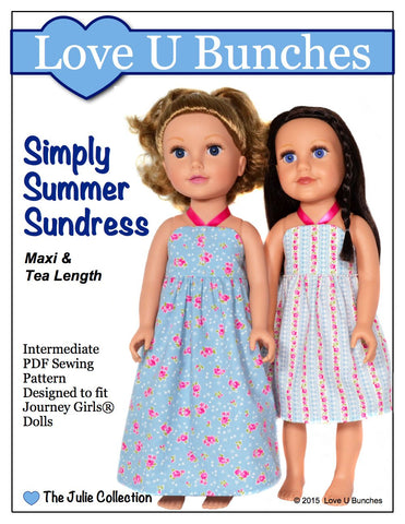 Love U Bunches Journey Girl Simply Summer Sundress Pattern for Journey Girls Dolls Pixie Faire