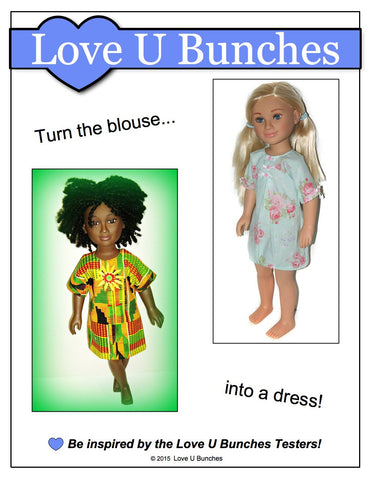 Bandana Blouse Pattern for Karito Kid Dolls