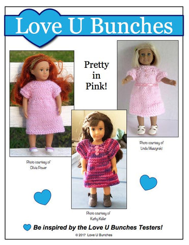 Mini Dresses Knitting Pattern for Mini Dolls