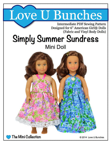 Simply Summer Sundress Pattern For Mini Dolls