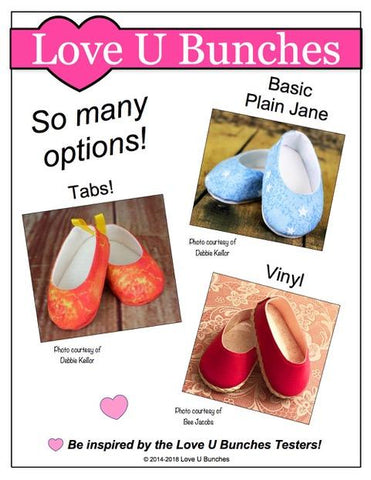 "Plain Jane 18"" Doll Shoe Pattern"