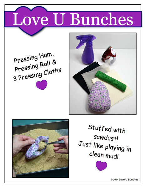 Miniature pressing tools 18 inch doll clothes pattern pdf for Garden tools for 18 inch doll