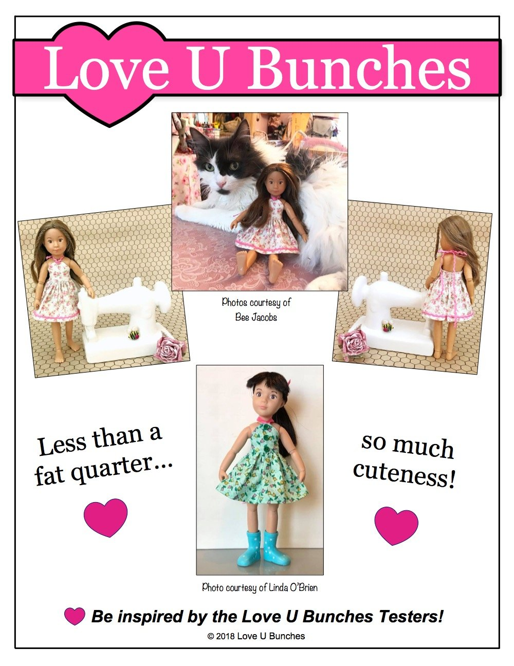 Love U Bunches Simply Summer Sundress Doll Clothes Pattern 9 Inch ...