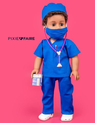 "Love U Bunches 18 Inch Modern Scrubs Outfit 18"" Doll Clothes Pattern Pixie Faire"