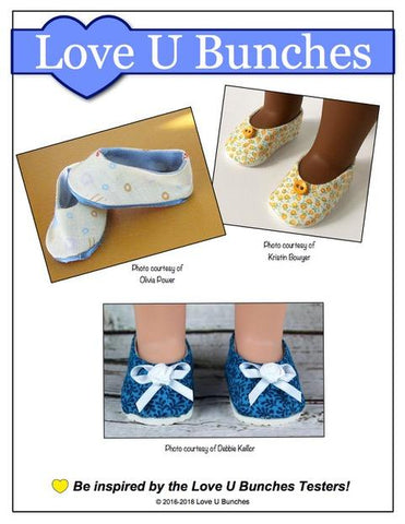"Plain Jane Shoes 14.5"" Doll Clothes Pattern"