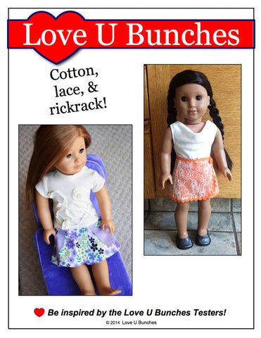 "Classic Wrap Skirt 18"" Doll Clothes Pattern"