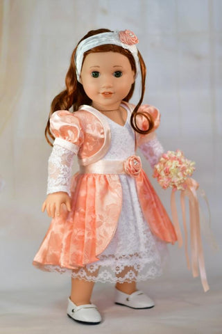 "Bridesmaid Dream 18"" Doll Clothes Pattern"