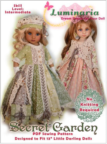 Secret Garden Pattern For Little Darling Dolls