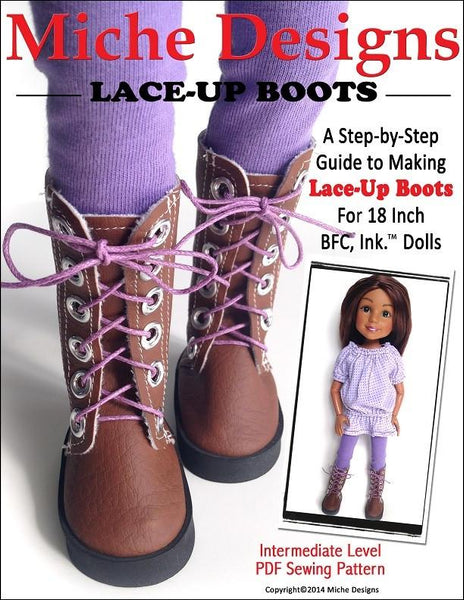 Miche Designs Lace Up Boots Doll Clothes Pattern Bfc Ink