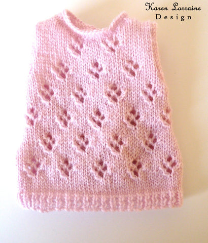 "Lace Vest Knitting Pattern For 18"" Dolls"