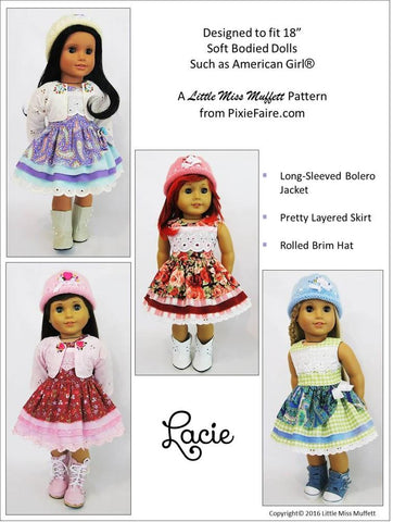 "Lacie 18"" Doll Clothes Pattern"