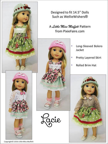 "Lacie 14.5"" Doll Clothes Pattern"