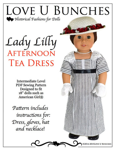 "Lady Lilly's Tea Dress 18"" Dolls"