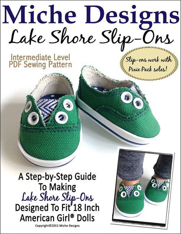 "Lake Shore Slip-Ons 18"" Doll Shoes"