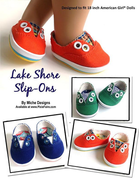 Miche Designs Lake Shore Slip Ons Doll Clothes Pattern