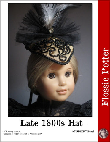 "1800's Hat 18"" Doll Accessory Pattern"