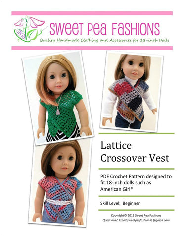 Lattice Crossover Vest Crochet Pattern