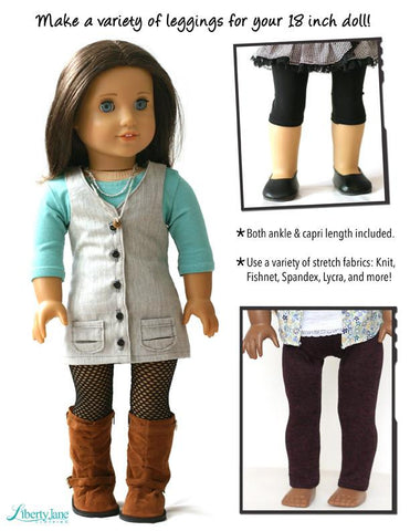 "Leggings 18"" Doll Clothes Pattern"