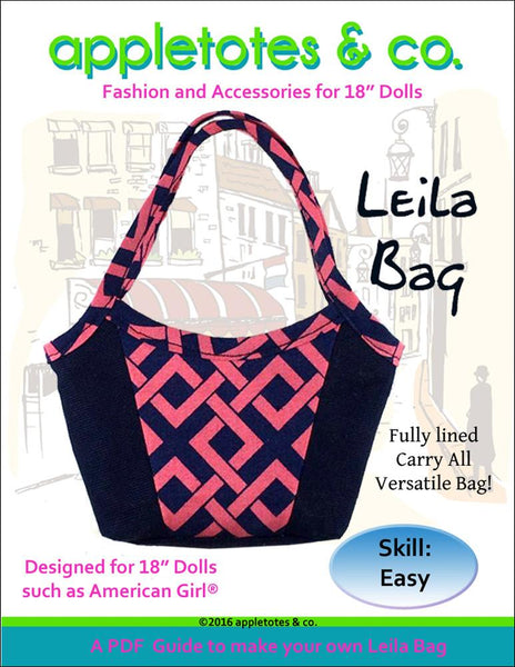 Appletotes Amp Co Leila Bag Doll Clothes Pattern 18 Inch