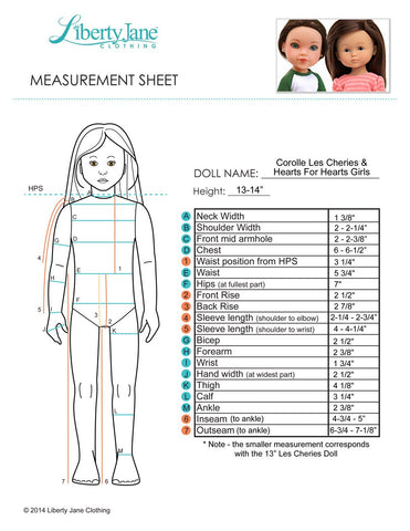 Baseball Tee 13 - 14 Inch Doll Clothes Pattern