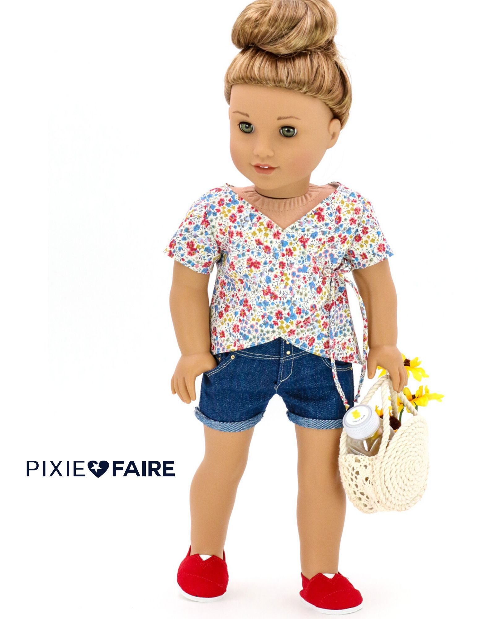 White Short Sleeve T-shirt Jeans Outfit for 18/'/' AG American Doll Journey Doll