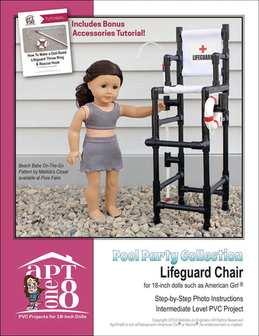 Pool Party Collection: Lifeguard Chair PVC Pattern