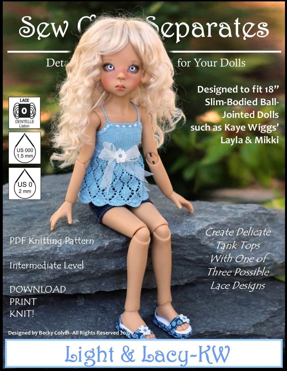 Light & Lacy Doll Clothes Knitting Pattern 18 inch MSD BJD such as ...