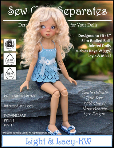 Sew Cool Separates BJD Light & Lacy Knitting Pattern for MSD Ball Jointed Dolls Pixie Faire