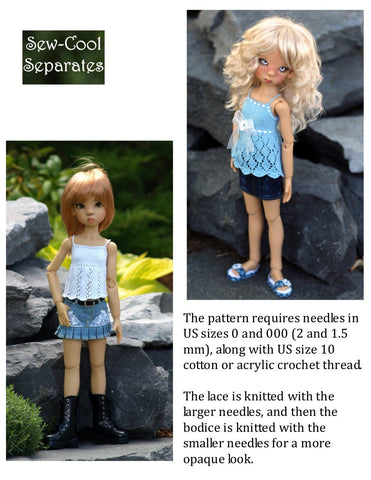 Light & Lacy Knitting Pattern for MSD Ball Jointed Dolls