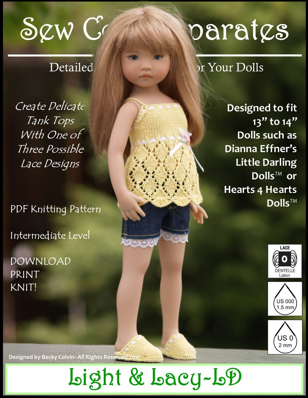 Sew Cool Separates Light & Lacy Doll Clothes Knitting Pattern 13 ...