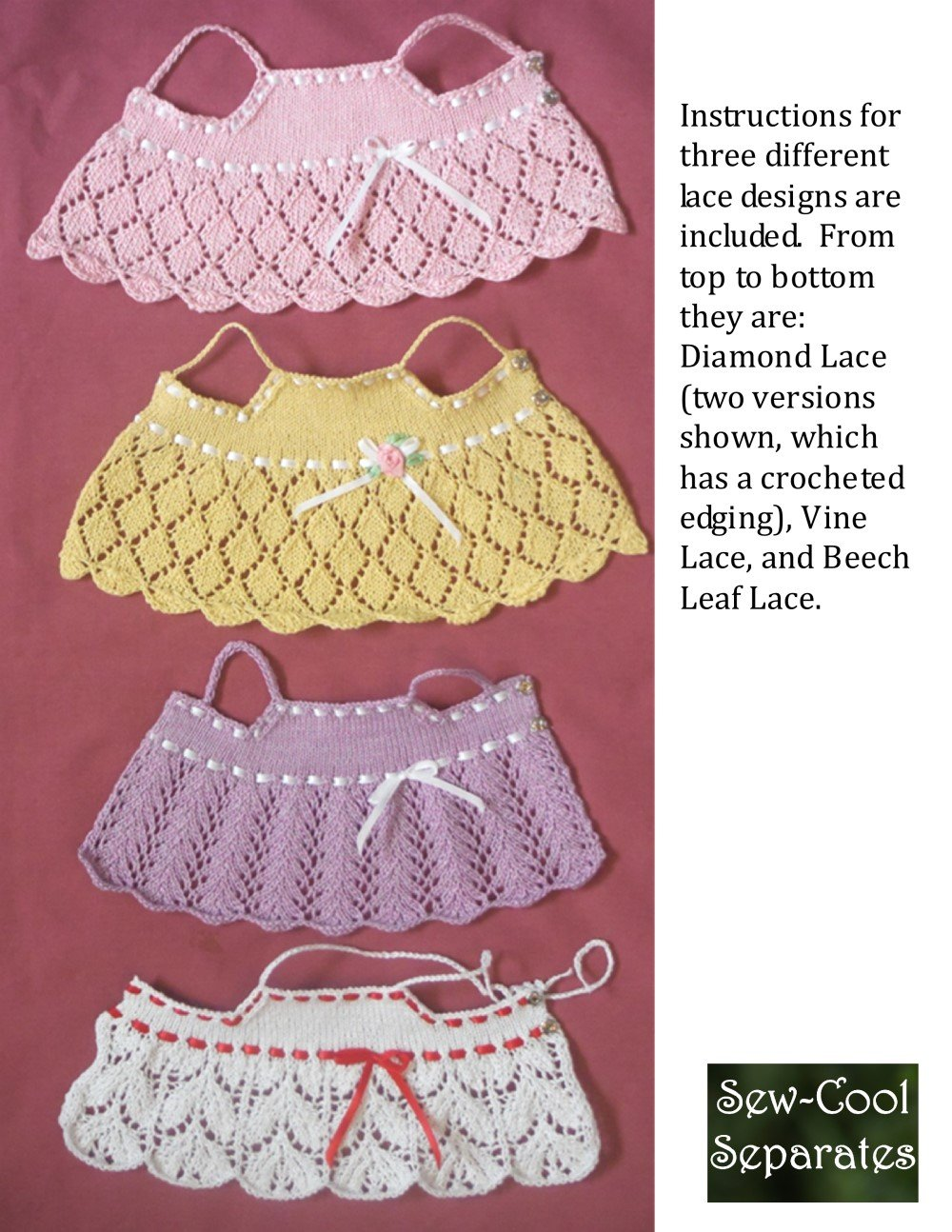 6f9747eac Sew Cool Separates Light   Lacy Doll Clothes Knitting Pattern 13 ...