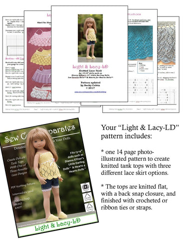 Light & Lacy Knitting Pattern for Little Darling Dolls