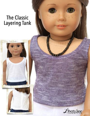 "Lightning Ridge Top and Killara Dress 18"" Doll Clothes Pattern"