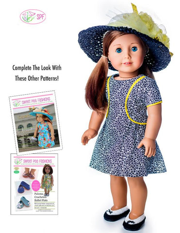 Lilibet Dress 18 inch Doll Clothes Pattern Kentucky Derby