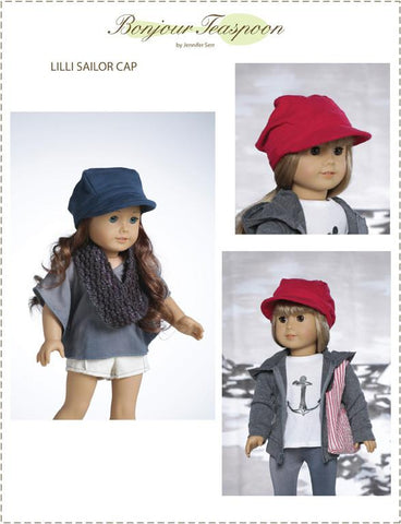 "LIlli Sailor Cap 18"" Doll Accessory Pattern"