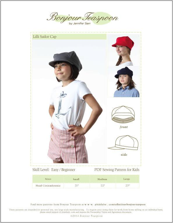 PDF EPattern Sailor Coat and Beret for 5/'/'-6/'/' Toy