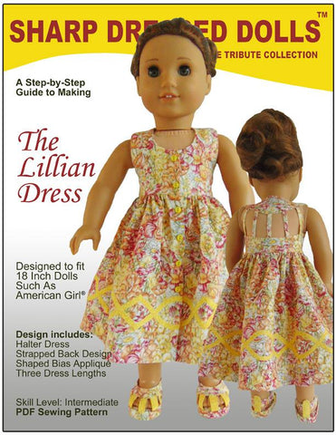 "Sharp Dressed Dolls 18 Inch Modern The Lillian Dress 18"" Dolls Pixie Faire"