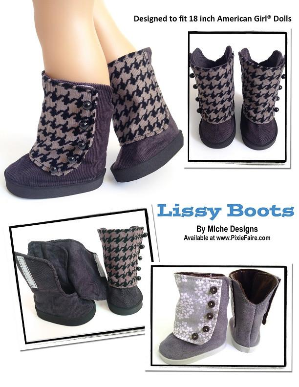Miche Designs Lissy Boots Doll Clothes Pattern 18 inch American Girl ... eaf08185fb6