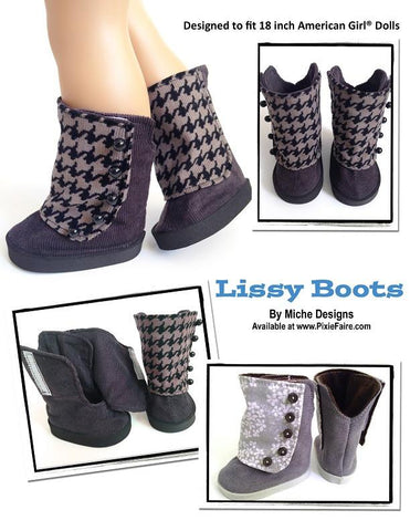 "Lissy Boots 18"" Doll Shoe Pattern"