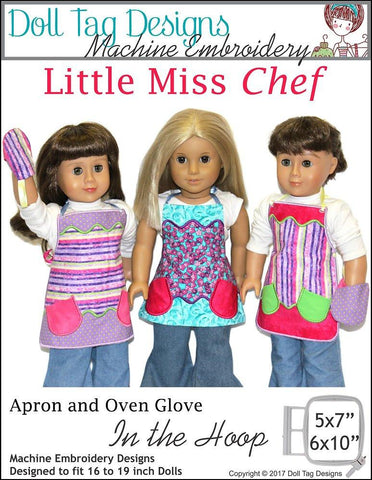 Little Miss Chef Machine Embroidery Designs