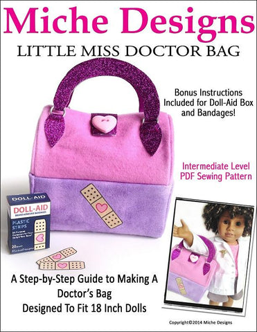 "Little Miss Doctor Bag 18"" Doll Accessory Pattern"