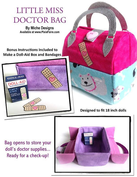 Miche Designs Little Miss Doctor Bag Doll Clothes Pattern