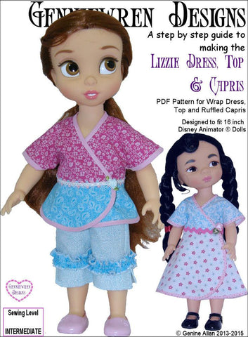 Lizzie - Dress, Top and Capri Pants for Disney Animator Dolls