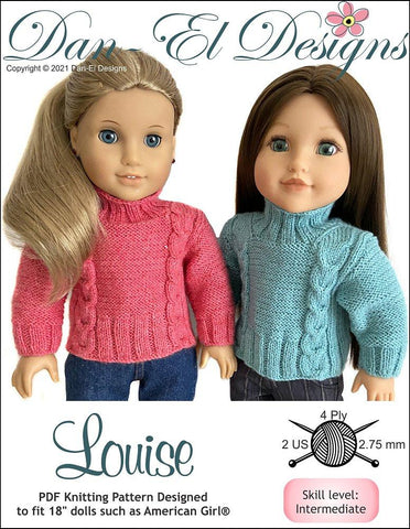 "Louise 18"" Doll Knitting Pattern"