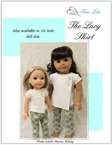 "The Lucy Shirt 14.5"" Doll Clothes Pattern"