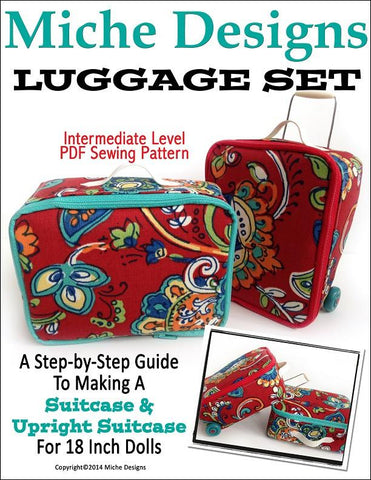 "Miche Designs 18 Inch Modern Luggage Set 18"" Doll Accessories Pixie Faire"
